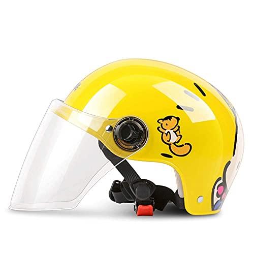 Cascos Casco de Bicicleta para niños Casco de Coche eléctrico para niños Casco de Montar Niños y niñas Bicicleta de Equilibrio Scooter Casco Deportivo Batería para niños Bicicleta Medio casc