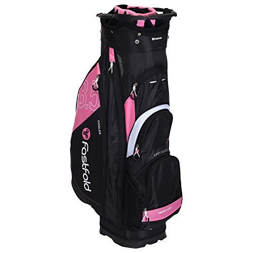 FASTFOLD Golf-Trolley Ladies Cart Bag Bow Print – Schwarz/Rosa