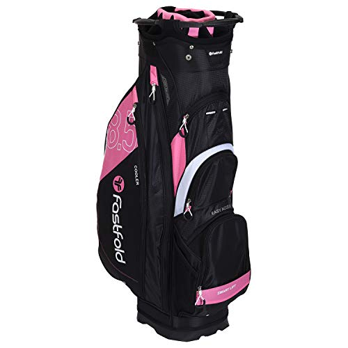 FASTFOLD Golf-Trolley Ladies Cart Bag Bow Print – Schwarz/Rosa