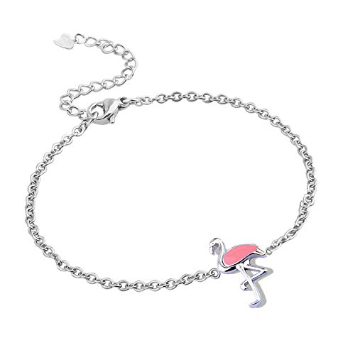 KUIYAI Be A Flamingo Bracelet Personality Be Yourself Unique Jewelry (Pink)