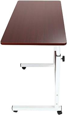Adjustable Laptop Desk,Modern Laptop Desk, Liftable and Moveable Mobile Computer Desk for Home Office, 80Cmx50Cm Portable Table (A)
