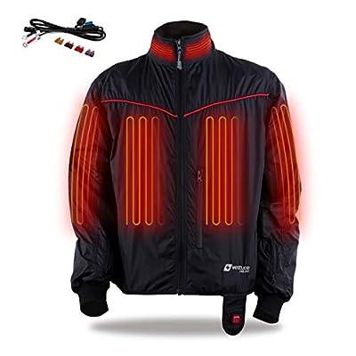 Venture Heat 12V Motorcycle Heated Jacket Liner, 7 Heating Zones, Lite - 42 Watt, Protective Riding Gear, GT1650 (L)