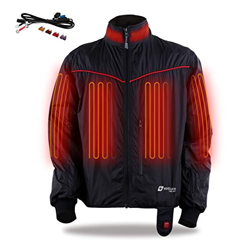 Venture Heat 12V Motorcycle Heated Jacket Liner, 7 Heating Zones, Lite - 42 Watt, Protective Riding Gear, GT1650 (L)
