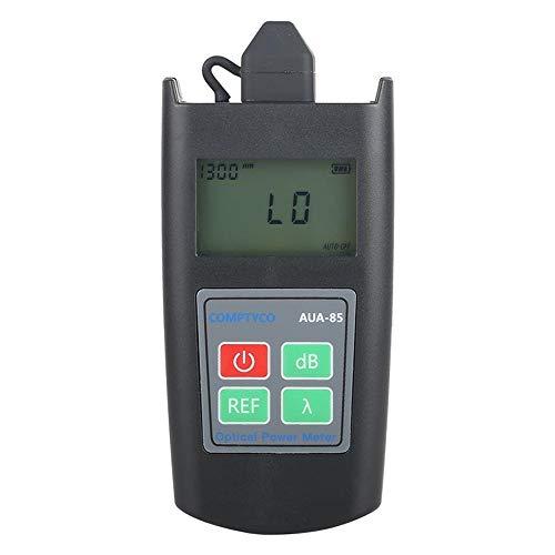 Mini probador de medidor de potencia óptica Medidor de atenuación óptica AUA-85 Rango de prueba de 6 longitudes de onda -70 a +10 dBm (Negro)