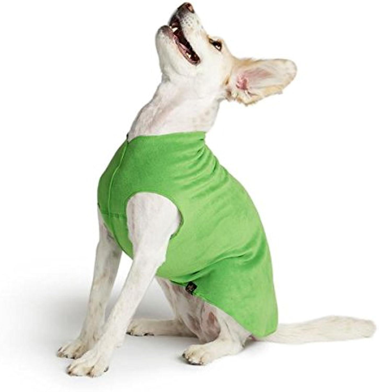 gold Paw Stretch Fleece Dog Coat  Grass Green Size 6