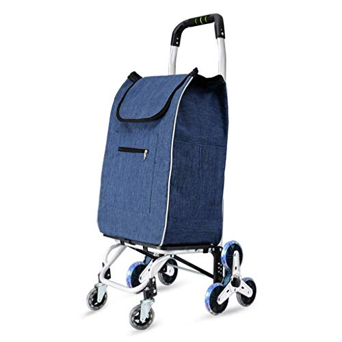 Storage Hand Luggage Cart Shopping Trolley Household Trolley Trailer Small Pull Cart Crystal Wheel Aluminum Alloy Foldable Bearing Weight 50kg Kitchen Tr