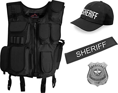normani Fasching/Karneval Kostüm Sheriff Einsatz Uniform für Damen und Herren [XS-6XL] Größe 5XL/6XL