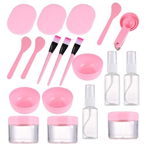 Artibetter 27 Pièces Kit D'outils de Mélange de Crème pour Le Visage Bricolage avec Bol Spatule Brosse Vaporisateur Bouffée Trousse D'application de Bouteille de Trempage