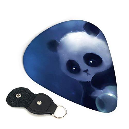 Púas de guitarra Panda, paquete de 6, adecuadas para guitarra, ukelele, bajo, guitarra eléctrica-FRO