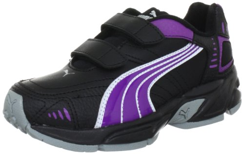 PUMA Xenon Trainer V Jr, Unisex-Kinder Hallenschuhe, Schwarz (Black-Bright Violet-metallic Silver 09), 33 EU (1 Kinder UK)