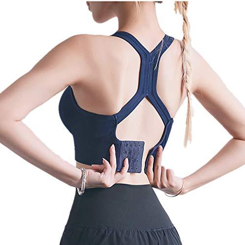 Cwang Pack Comodidad Sujetador Mujer niña Sujetador Superior sin Costuras Dormir Yoga Chaleco elástico,Azul,L