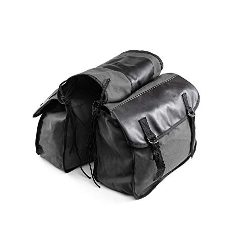 Alforjas de Lona para Motocicleta, Bolsa de Almacenamiento de Herramientas Impermeable para Equipaje de Motocicleta, Bolsas de Viaje para Caballero, Caja de Motocicleta Touring (Negro)