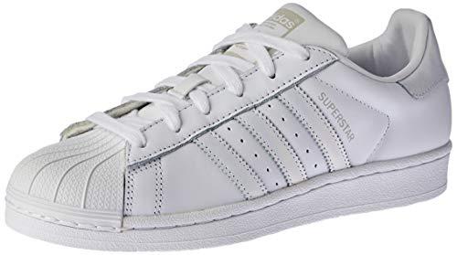 adidas Women's Superstar W Gymnastics Shoes, White (FTWR White/FTWR White/Grey One F17), 3.5 UK