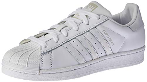 adidas Superstar W, Zapatillas Mujer, Blanco (Footwear White/Footwear White/Grey 0), 36 2/3 EU