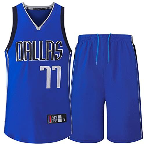 ZONDIPU Camiseta de Baloncesto para Hombre-Luka Doncic-Dallas Mavericks # 77 Uniforme de Baloncesto, Camiseta de Baloncesto de Dallas Mavericks
