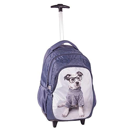 Kinder Trolley 45x29x24 cm - Studio Pets Collection - Hund - LILA/Weiss