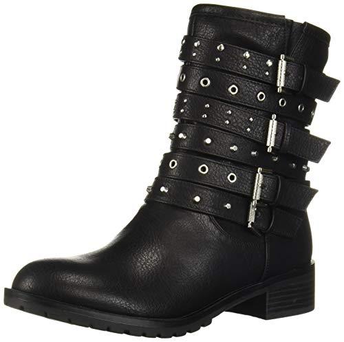 Fergalicious Women's Fantom Combat Boot, Black, 5 M M US