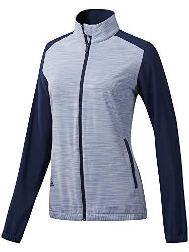 adidas Essentials Wind Jacket Chaqueta Deportiva, Gris (Gris/Azul Navy Dp5796), X-Small (Tamaño del Fabricante:XS) para Mujer
