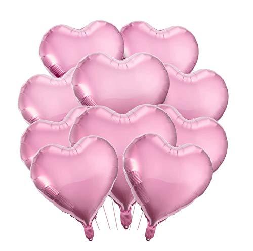 Unique'store 25x Ballons Herz–Herzluftballon Set für Geburtstag,Hochzeit, Verlobung & Valentinstag – große Folien Ballons & Heliumballons in Premiumqualität