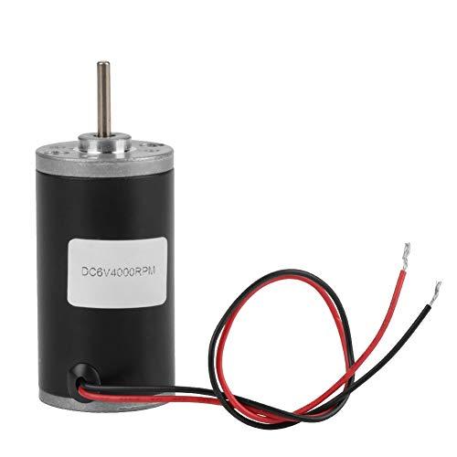 永久的な磁気モーター、31ZY DC 6V / 12V / 24V 3500-8000rpm CW/CCW DIYの発電機のための電気調節可能な高速カーボンブラシの同期モーターリバーシブルの低雑音(6V 4000RPM)
