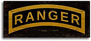 CELYCASY Army Ranger Wood Sign Print Wooden Plaque Handmade Decor Wall Art Signs
