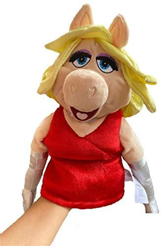 XKMY Juguetes de peluche The Muppets Marioneta Kermit Frog Bear Chef sueco Miss Piggy Gonzo Viejo juguete de peluche de regalo (color negro)