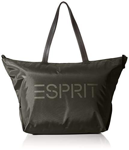 Esprit Accessoires Damen Noos Cleo Lrgsh Schultertasche, Schwarz (Black), 25x35x35 cm