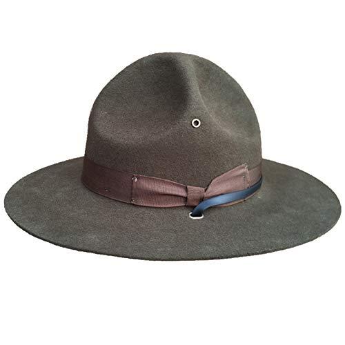 FDBQC Fedora Hut Für Männer Frauen Filz Material Cap Drill Sergeant Instructor Hut/Mountie Ranger Hut