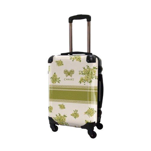 [キャラート] アート スーツケース 機内持込可 保証付 31L 57cm 3.2kg CRA01H-029H シャトルーズグリーン シャトルーズグリーン