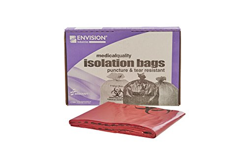 Stout by Envision - ISR-5055-XH 50-55 Gallon Red Biohazard Waste Disposal Bags - 25 Bags - 3 mil Hospital Grade Puncture & Tear Resistant Infectious Medical Waste Bags