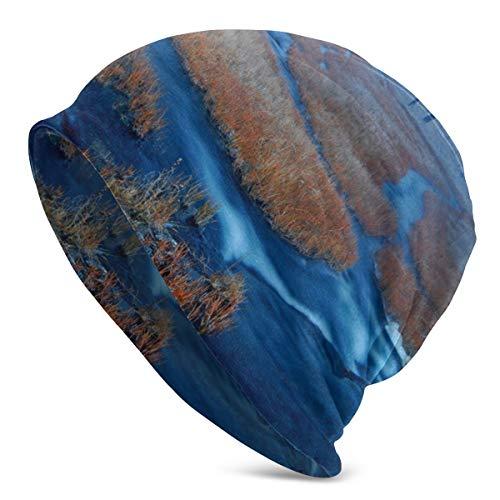Gorra de Invierno Naturaleza Bosque Azul Río Fondo de Pantalla Cráneo cálido al Aire Libre Gorro de Punto Gorro Gorro