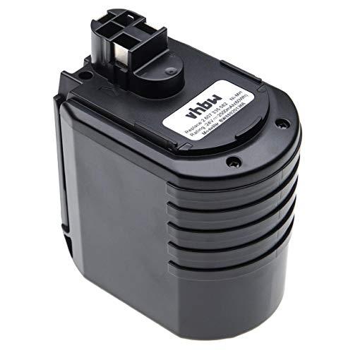 vhbw batería compatible con Bosch 0 611 260 539, 11225VSR, 11225VSRH, BBH24VRE, BTI BHE 24VRE, GBH 24VFR herramienta eléctrica (2500mAh, 24V, NiMH)