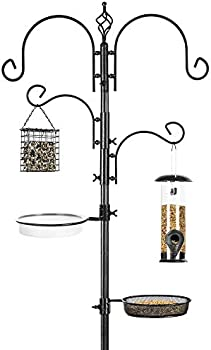Best Choice Products 91in 4-Hook Bird Feeding Station