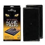 KINGMAN PRIME Rat Mouse Rodent Pest Glue Trap (Large Size) Tray Heavy Duty (10 Traps)