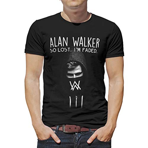 XHJQ88 Alan Walker (2) Ontworpen Print Heren T-Shirt Tieners Top Grappig - Tie-Dye Top Wear