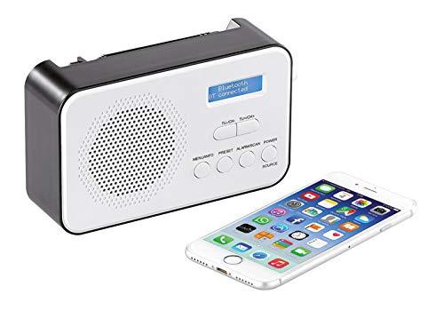 VR-Radio DAB Radio: Mobiles Akku-Digitalradio mit DAB+ & FM, Wecker, Bluetooth 5, 8 Watt (Akkuradio)