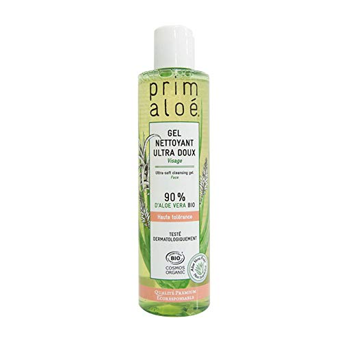 Gel nettoyant Utra doux 90% Aloé Vera PRIMALOE 250 ml COSMOS