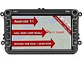 M.I.C. AV8V7-lite Android 11 Autoradio mit navi Ersatz für VW Golf t5 touran Passat RNS RCD Skoda SEAT: DAB Plus Bluetooth 5.0 WiFi 2 din 8' IPS Bildschirm 2G+32G USB Auto zubehör europakarte