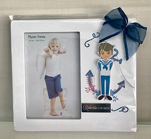 clasificación y comparación Grabado de marco de fotos personalizado para comunión niño (5 piezas) 10 x 15 cm para casa