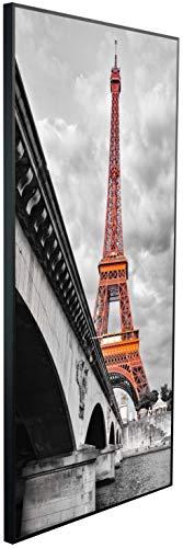 Ecowelle Infrarotheizung mit Bild | 1200 Watt | 120x60x2cm | Infrarot Heizung| | Made in Germany| d 30 Eiffelturm