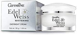 Giffarine Edelweiss Whitening Overnight Cream- Moisturizing Cream for Sensitive,Strong Antioxidant properties/Net wt.1.06 Oz. (30 grams).