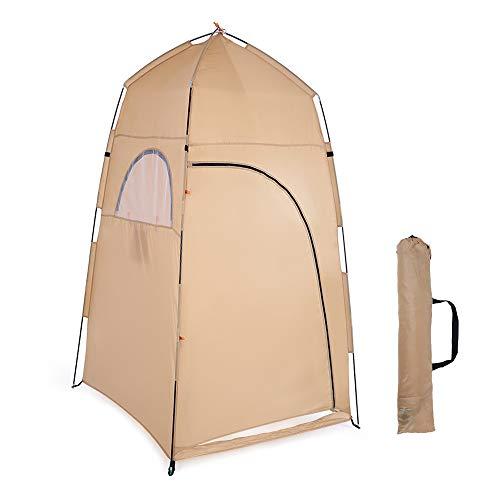 SUSHOP Tienda al Aire Libre de Privacidad Tienda Portable de la Ducha Vestir Pesca Baño Trastero, Aseo Camping Tienda de la Playa Cambio de Refugio con Techo, 120 X 210CM 120X