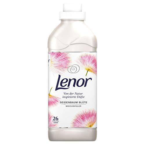 Lenor Weichspüler Flauschige Wäsche, Inspired by Nature, Seidenbaum Blüte, 26 Waschladungen (780 ml)