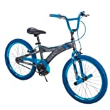 Huffy 20' Radium Boys' Metaloid BMX Bike, Silver with Blue Chrome