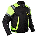 Blouson Textile Motard Sport Protections Doublure Hiver Moto Touring Fluo L