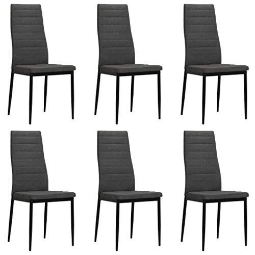 sedie sala da pranzo stoffa Festnight Set 2/4/6 pz Sedie Sala da Pranzo Moderne in Tessuto Stoffa con Schienale Alto