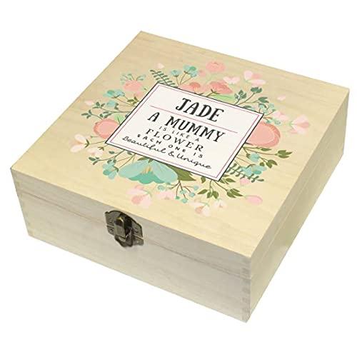 Caja de memoria personalizada de madera, bonita y única, con tapa y bisagra, regalo personalizado para la pesca, cumpleaños para adultos y papá, regalo para padres