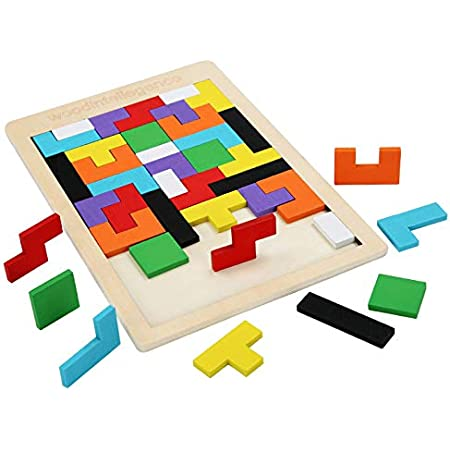 木製パズル テトリス ジグソーパズル おもちゃ 1個セット パズル 子供