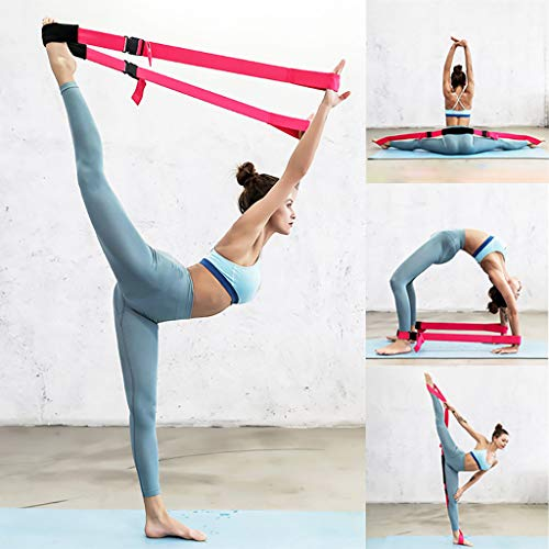 CRITY Yogaband, 1,5 m Fitnessband Strecken Trainingsgürtel Multifunktional Stretchband Sport Widerstandsband Fitnessband Fitnessband Fitnessband Im Freien Freizeit Zubehör (Schwarz)