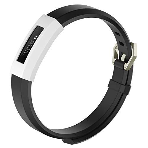 Baobao QUELLIA Appareil Wearable Intelligent, Montre Solide Couleur en Silicone de Protection for Fitbit Alta/HR (Noir) (Color : White)